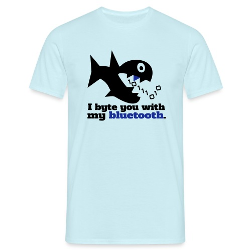 Byte you Nerd Fisch Blueooth - Männer T-Shirt