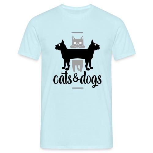 Chats et chiens - Chat et chien - T-shirt Homme