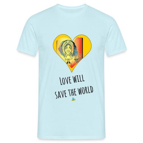 Love will save the world - Maglietta da uomo