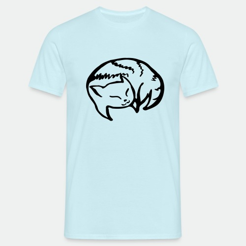 Happy Sleeping Vera s Cat - Men's T-Shirt