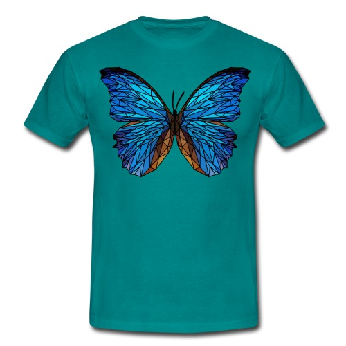 PAPILLON - LOW POLY (Outline) - T-shirt Homme