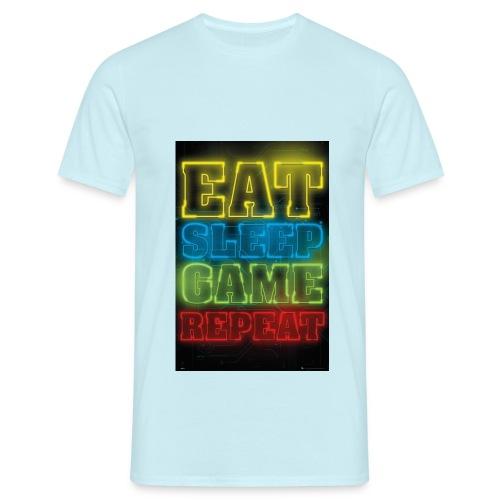 eat sleep game repeat - Mannen T-shirt