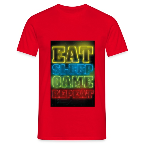 eat sleep game repeat - Mannen T-shirt