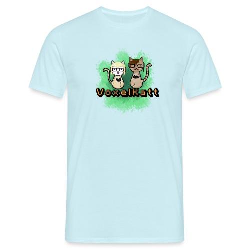 Voxelkatt retro logo - T-shirt herr