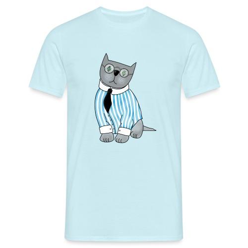 Cat with glasses - Men's T-Shirt