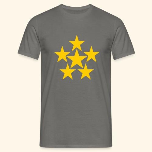5 STERN gelb - Männer T-Shirt