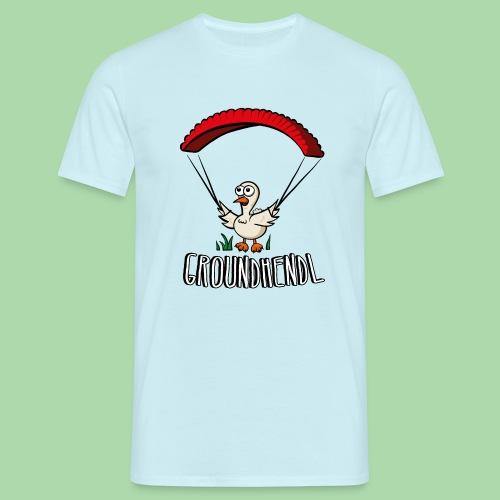 Groundhendl Paragliding Huhn - Männer T-Shirt