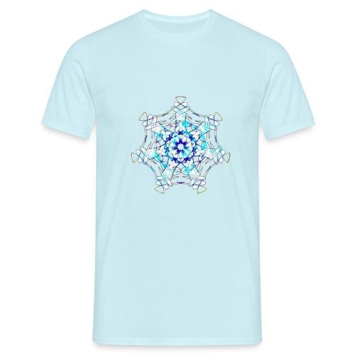Mandala Eiskristall - Männer T-Shirt