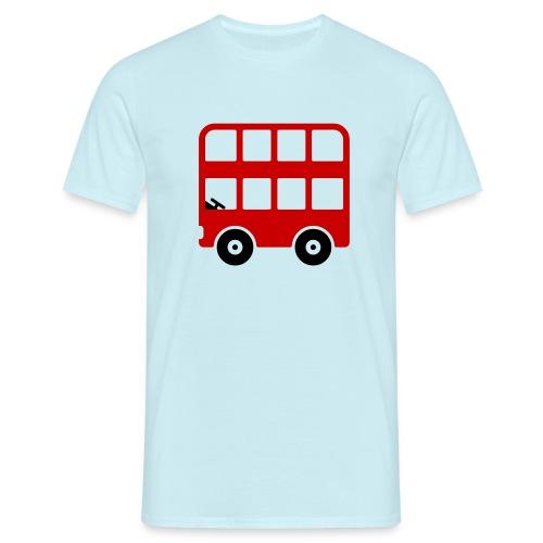 Doppeldecker Bus Comic - Männer T-Shirt