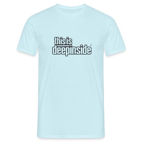 This is DEEPINSIDE logo black - Men's T-Shirt