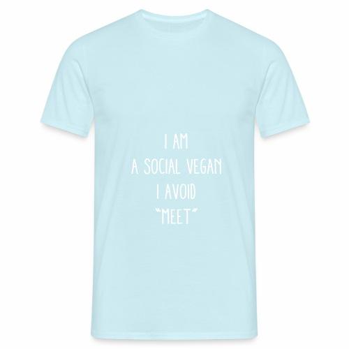 A Social Vegan - Men's T-Shirt