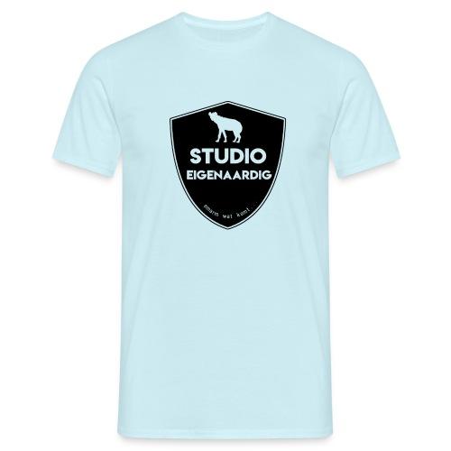 Zwart logo - Mannen T-shirt