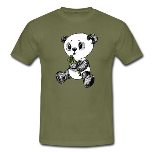 Panda Bär farbig scribblesirii - Männer T-Shirt