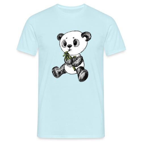 Panda Karhu värillinen scribblesirii - Miesten t-paita