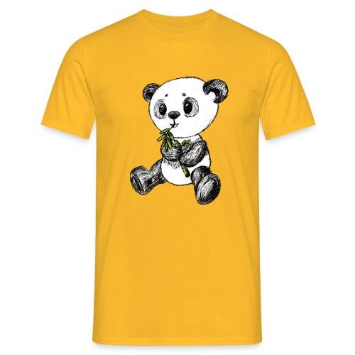 Panda bjørn farvet scribblesirii - Herre-T-shirt