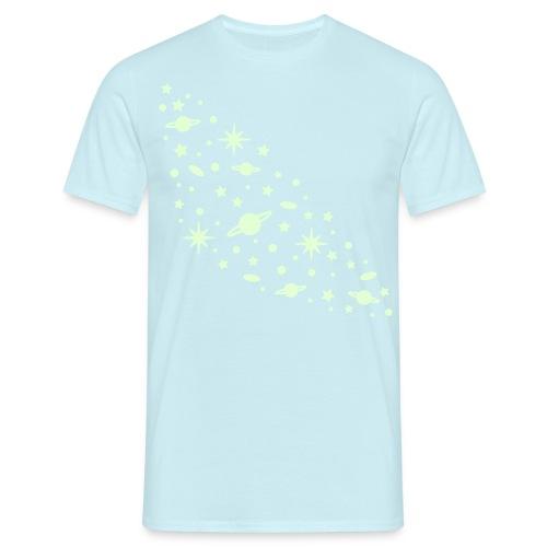 yellowibis galaxy1 vec - Men's T-Shirt
