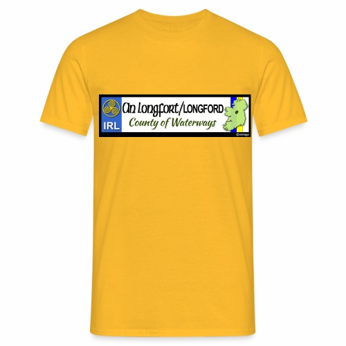 LONGFORD, IRELAND: licence plate tag style decal - Men's T-Shirt