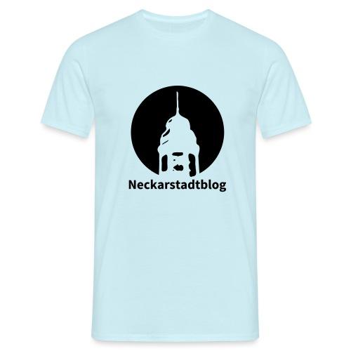 Logo mit Schriftzug inv. (Alternative Farben) - Männer T-Shirt