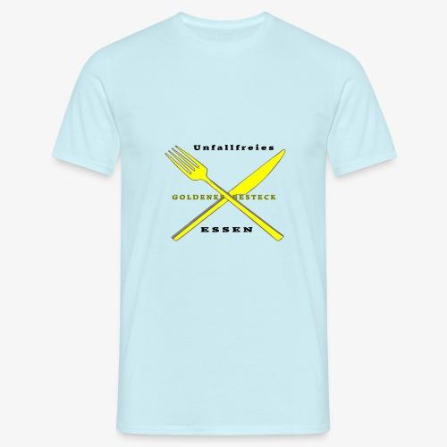 Messer und Gabel unfallfrei - Männer T-Shirt