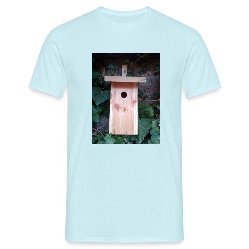 Der Nistkasten - Luxus für den Garten-Vogel - Männer T-Shirt