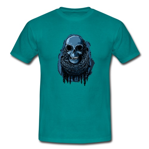 SKULL in CHAINS - deepBlue - Men's T-Shirt