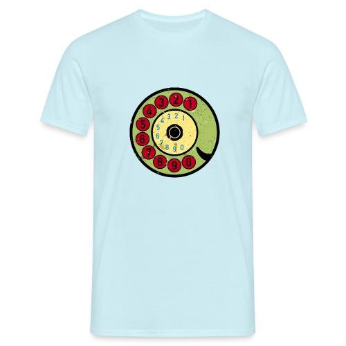 Vintage Telefon Retro nostalgische Wählscheibe alt - Men's T-Shirt