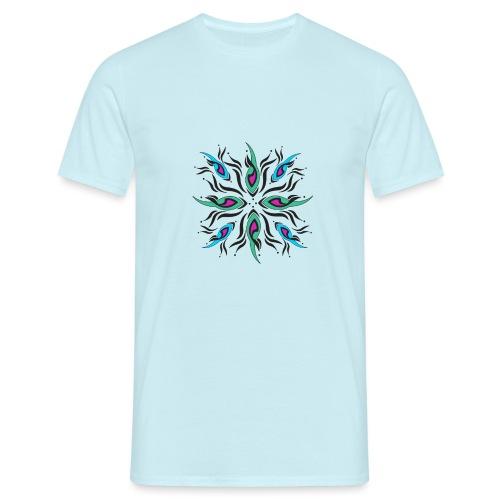 motivo astratto multicolore - Maglietta da uomo