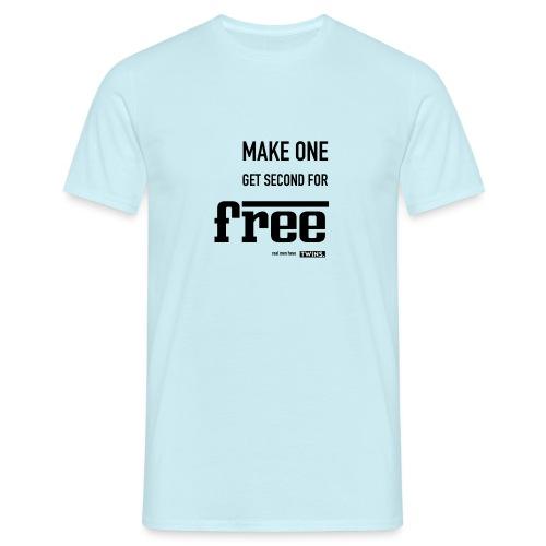 TWINS. make one get second for free - Männer T-Shirt