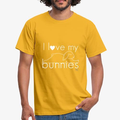 I love my bunnies I - Miesten t-paita