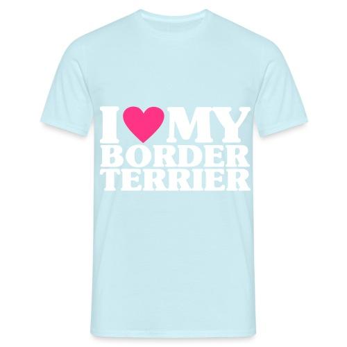 iheartmyborderterrier - Men's T-Shirt