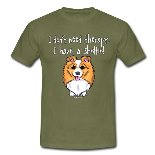 Sheltie Dog Therapy 2 - Men's T-Shirt