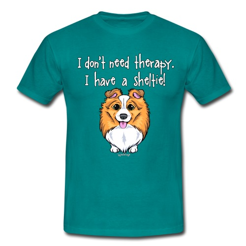 Sheltie Dog Therapy 2 - Men's T-Shirt