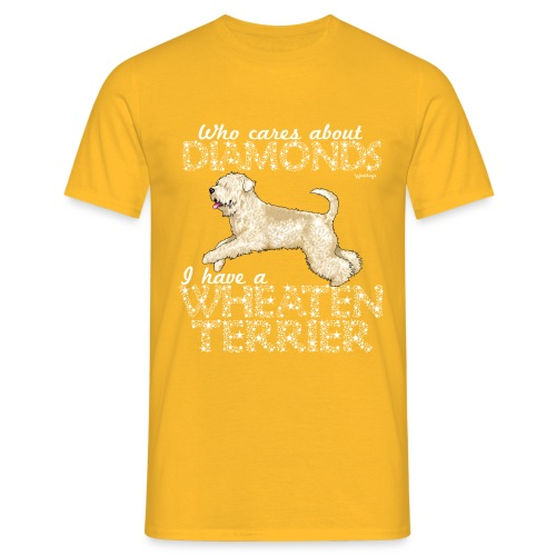 Wheaten Terrier Diamonds 4 - Men's T-Shirt