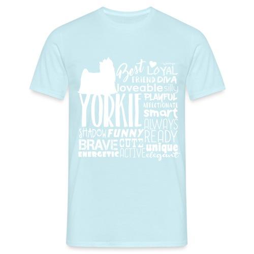 Yorkshire Terrier Words W - Miesten t-paita