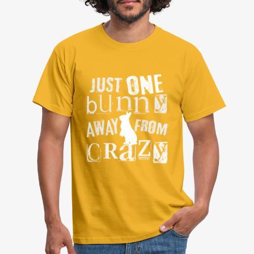 One Bunny Crazy - Miesten t-paita