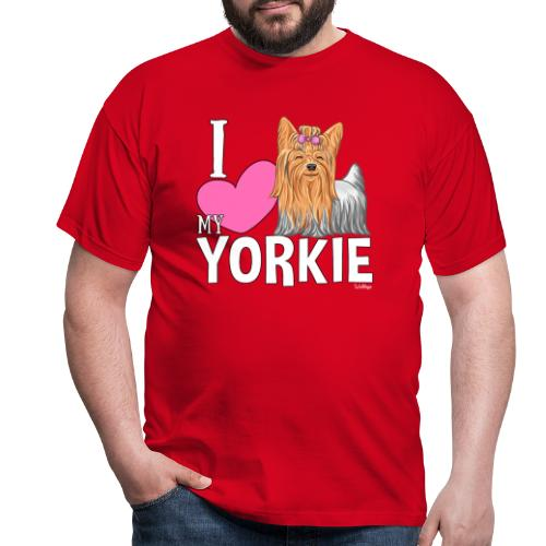 I love my Yorkie - Miesten t-paita