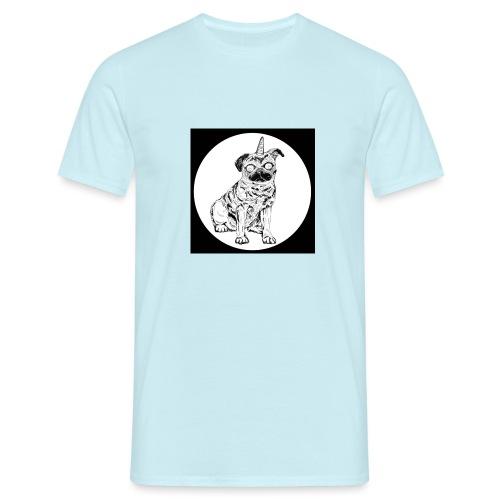 rysunek Pies-Jednorożec - Koszulka męska