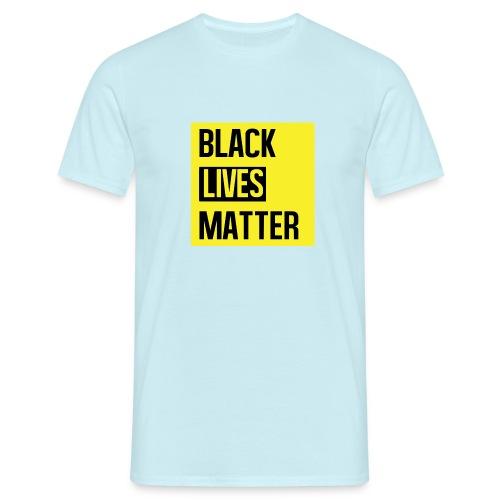 Black Lives Matter (yellow) - Mannen T-shirt