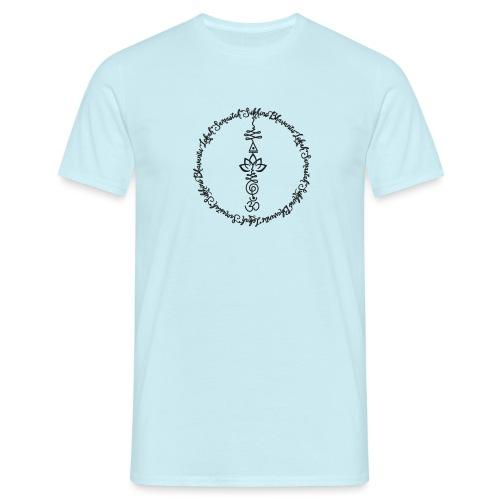Yoga Mantra Lokah Sukhino Bhavantu Design Tshirt - Männer T-Shirt