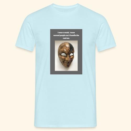 I wear a mask - Miesten t-paita