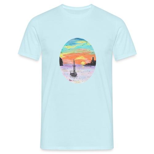 Port de Sollers Sonnenuntergang - Männer T-Shirt
