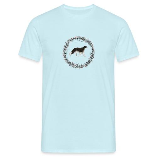 Schwarzer Barsoi - Männer T-Shirt