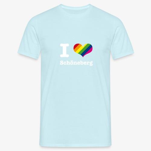 I love Schöneberg Rainbow - Männer T-Shirt