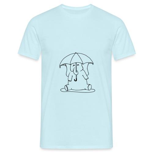 Art Deco Space Elephant - T-shirt herr