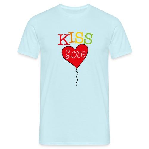 HEART LOVE - Mannen T-shirt