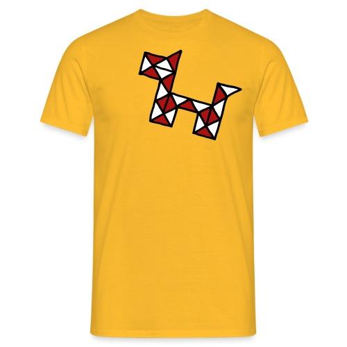 Dog pet twist puzzle toy best friend - Men's T-Shirt