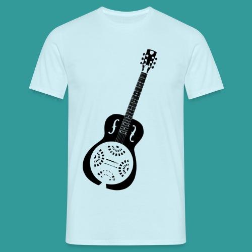 Blues Slide Guitar Stencil - Men's T-Shirt