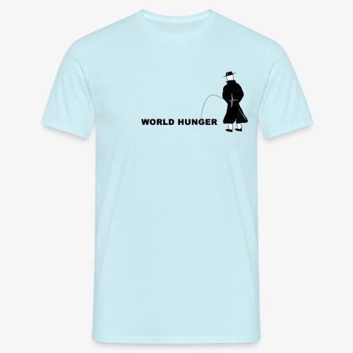 Pissing Man against World Hunger - Männer T-Shirt
