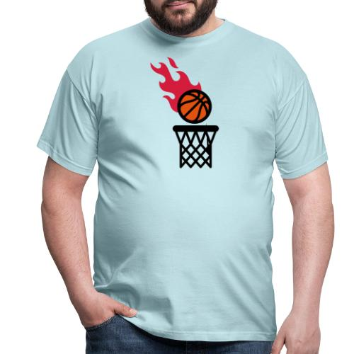 fire basketball - Men's T-Shirt