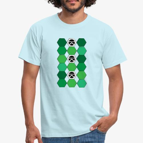 |K·CLOTHES| HEXAGON ESSENCE GREENS & WHITE - Camiseta hombre